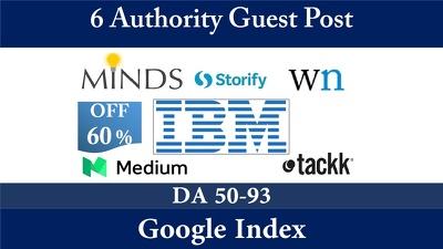 Publish 6 Guest Post on Huffington post, Ibm,Patch.com,wn.com