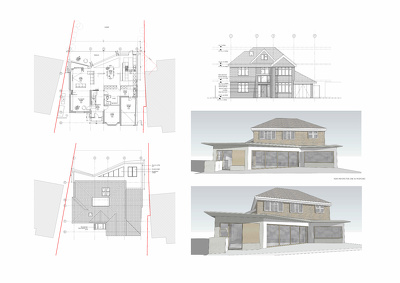 Draw and submit floor plans for planning permission application