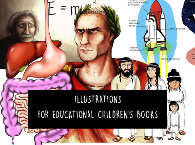 Create illustrations for educational children's books