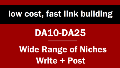 Post your link on DA25 sites. LOW COST & FAST LINK BUILDING