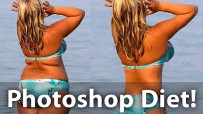 Professionally remove fat and shape a body with photoshop