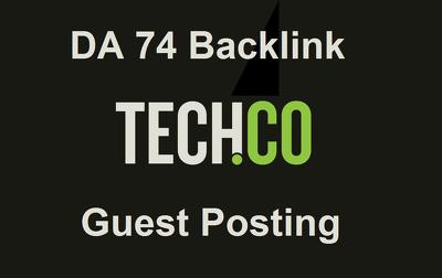 Write & Publish Dofollow Guest Post on TECH. Tech.co - DA 75