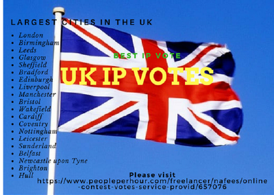 Help you to get UK different IP votes for your online contest.