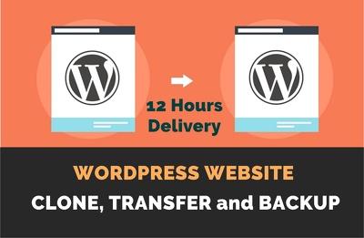 Clone, Transfer And Backup Any Wordpress Website Manually