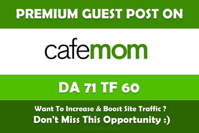 Post article on cafemom.com