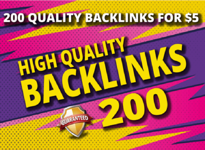 Create 200 Manual Backlinks To Your Website within 72 hours