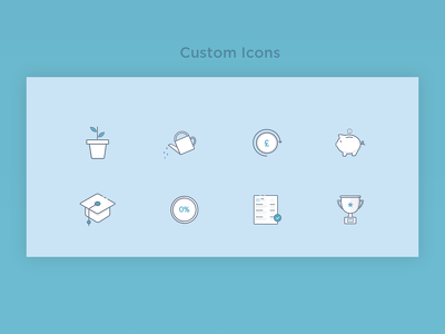 Get a set of custom icons in SVG for your app & website