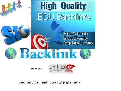 Get 100 High Quality Edu backlink Service
