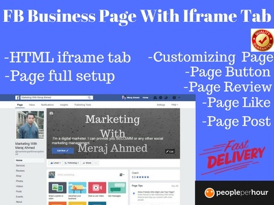 Create fb business page with iframe tab