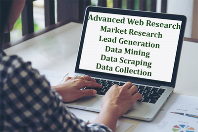 Do 2 hours of in-depth Web research to collect data