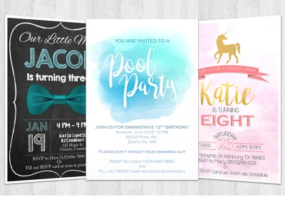 Create invitations for special events