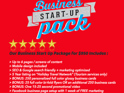 Provide a Complete BUSINESS Start-Up Package For Your COMPANY