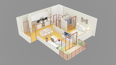Make Interior,Exteriorand 3d Floor Plan