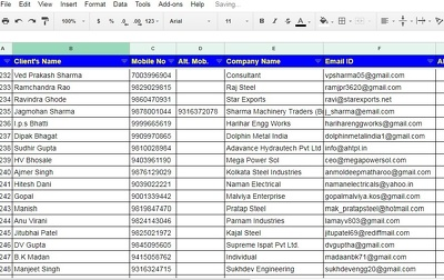 Do Data scrapping research for 500 Email address
