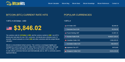 Create your live bitcoin price rate website with starter blog