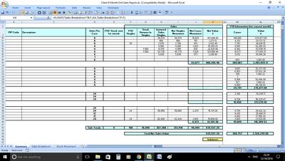 Summarise your data in Excel