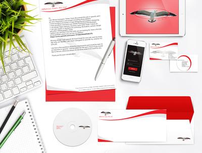 Design letterhead and brand accessories