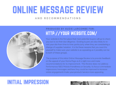 Online Message Review and Recommendations