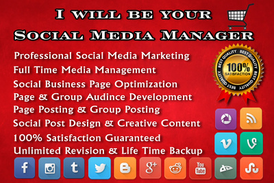 Be your social media manager to manage your business for 5 days