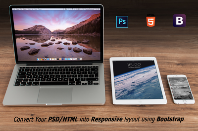 Convert your PSD/HTML to responsive layout using Bootstrap