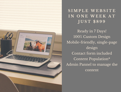 "Develop a website in just ""One Week"""