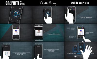Make 1 minute mobile app video