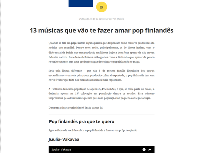 Write blog posts in brazilian portuguese about entertainment