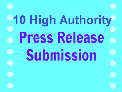 Write and distribute one press release on 10 press release Sites