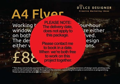 Create a flyer - A4 in size, both sides, tri-folded or halved