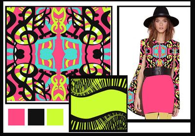 Create digital textile pattern design