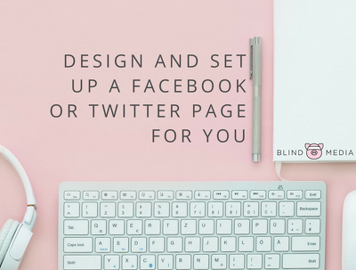 Design and set up a Twitter or Facebook page.