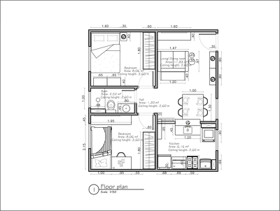 Design a 2D floor plan in AutoCad format