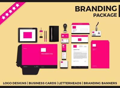 Branding Package (Logo, Business Card, Letterhead, Banner)
