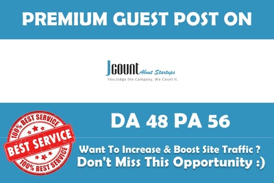 Write & Publish Guest Post on Jcount.com Premium Dofollow Link