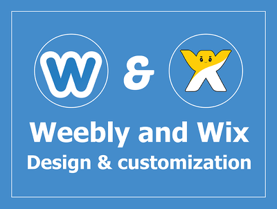 Design and Customize Weebly, Wix website