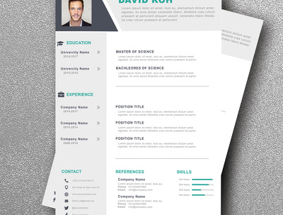 create 1 page creative resume, cv or cover letter design