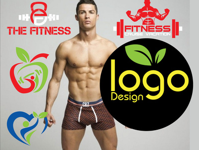 Simple Eye Catching Fitness,nutrition,Gym,health business logo