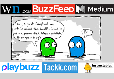 2 guest post on editorial sites wn, buzzfeed, playbuzz, minds