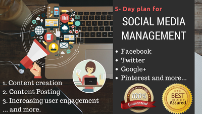 Manage upto 7 Social Media Profiles for 5 days