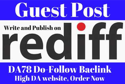Write and Guest Post with Dofollow Link in Rediff Blog DA82
