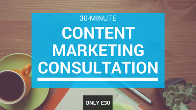 Offer a 30-minute content marketing consultation