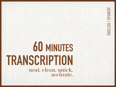 Transcribe up to 60 minutes of Video/Audio in English or Spanish