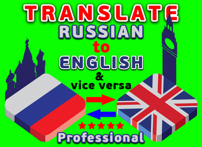 Translate 3000 words Russian / Ukrainian to English & vice versa