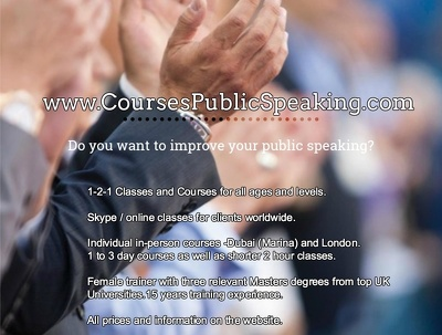 Help you excel at Public Speaking (£40/hour)  video-calls