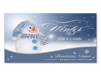 Winter season business card
