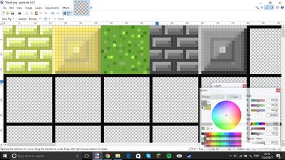 Create a tileset of twenty tiles