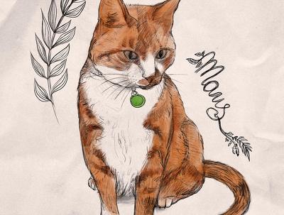 Draw your custom color pet portrait