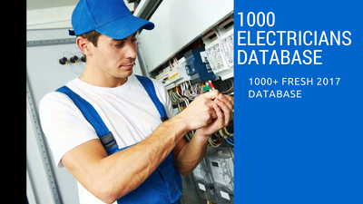 Provide UK Electrician's Database of 1000+ records in Excel