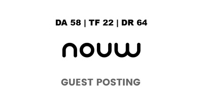 publish a guest post on Nouw - DA58, TF22, DR64