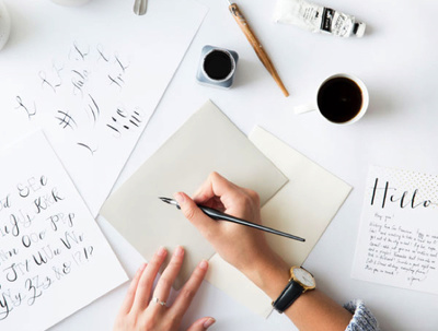 Write anything you want in calligraphy